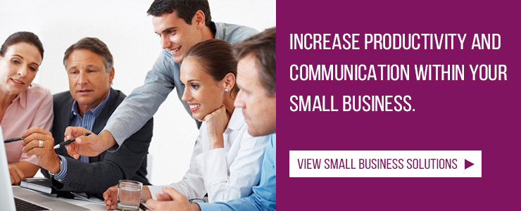 View small business solutions for your teleconferencing and video conferencing needs