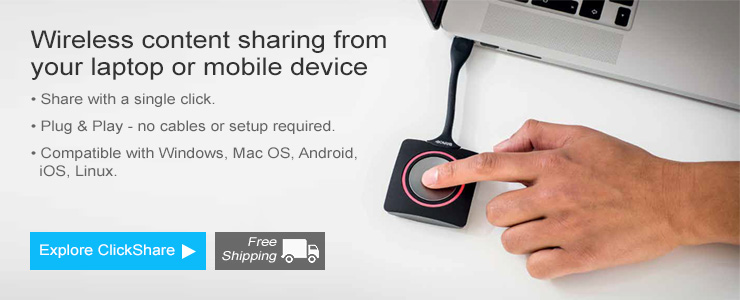 Buy Barco ClickShare - Video Conferencing New Zealand